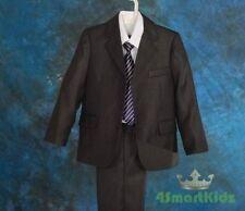 Grey Boy Formal Suit Christening Wedding Pageboy Size 3