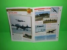 SHORT STIRLING AIRCRAFT FACTS CARD AIRPLANE BOOK 196
