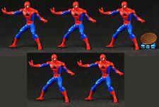 Hasbro Marvel Superheros Figure Magnet Spider-Man Cake Topper Lot of 5 K201x5
