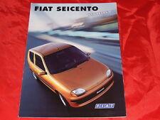 "FIAT Seicento ""Hobby"" Sondermodell Prospekt von 1999"