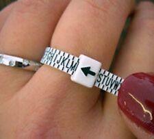 Finger Ring Sizer - UK Sizes A to Z  + INTERNATIONAL CHART MEASURES FINGER BNIP