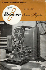 Vintage Revere 8mm Movie Projector Owner's Operating Manual (PDF via EMAIL) 1951