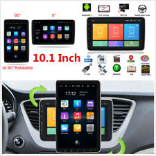 10.1in Single DIN Rotatable Touch Screen Car Stereo Radio Wifi GPS Navigation