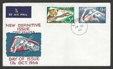 NIGERIA 1966 FDC New Definitive Issue Two Values