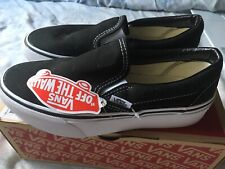 Vans Classic Slip on (Captain Fin) Checkerboard Black | Mens