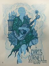 CHRIS CORNELL BOSTON SILKSCREEN GIG POSTER  S/N BY ARTIST SOUNDGARDEN