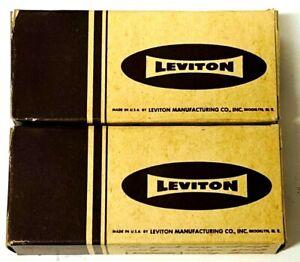 Vintage Leviton Bakelite Duplex Flush Receptacle T Slots # 5000