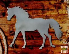 Walking Trotting Horse 03 Equine Farm Ranch Barn Western Metal Wall Art Decor