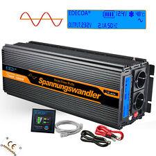 Inversor Onda Pura 2500W 5000 Watt 12V 220V Convertidor transformador LCD Remote