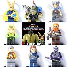 8Pcs Ragnarok Hulk Thor Loki Grandmaster superhero Minifigure Fit with Lego