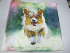 CORGI _I BELIEVE I CAN FLY Dog Pup Puppy cushion cover Throw pillow   Ca un79