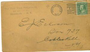 Envelope The New York Philatelist  Brooklyn NY to Cobleskill 1911