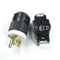 NEMA 5-20R  5-20P 20A 125V Male plug Connector+Female Wall Receptacle Outlet