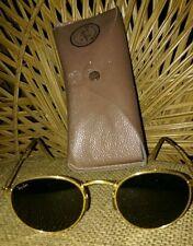 Vintage Ray Ban Gold Aviator Gatsby Frame Green Bausch Lamb Lens  sunglasses