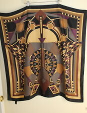 "Designer Art-to-Wear Frank Lloyd Wright 34"" Square Silk MoMA Scarf -Fine Piece"