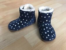 Carter's Every Step Baby Winter Boot Stand Stage 2, Size 5 Girls Navy Silver New
