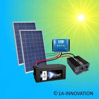 Komplett 220V Solaranlage + Akku 280Ah 500W Solarpanel 2000W Camping Watt Garten