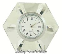 Diamond Crystal Desk Clock