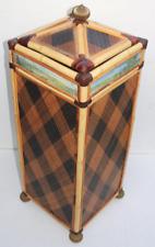 Mackenzie Childs Ajiro Rattan Hamper Storage Box