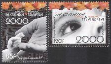 French Polynesia 2000 Millennium/Children/Art/Eyes/Hands 2v set (n25767)