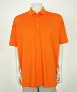Turtleson Tour Performance Orange Tech Golf Polo Shirt Mens Sz XL