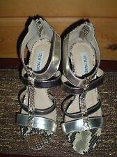Steve Madden Woman's Black / Beige Snake Skin style High Heels Size 8.5