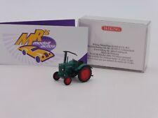 Wiking 0885 06 # Hanomag R 16 Traktor mit Mähbalken in Werksfarbe 1:87 NEU