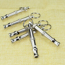 Training Puppy Pet Dog Whistle Stainless Steel Adjustable Keychain 1 PCS