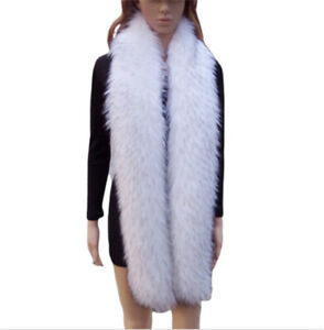 185CM Long Warm Women Faux Fur Collar Scarf Stole Cape Shawl Wrap