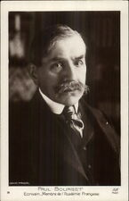 French Writer - Paul Bourget - Academie Francaise Real Photo Postcard