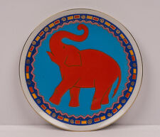 San Diego Zoo Asian Elephant Red Blue Small Decorative Plate - 7&3/4""