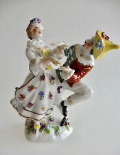 Antike Porzellan Figur Figurengruppe Harlekin und Dame Porzellan Marke