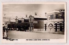 VINTAGE POSTCARD RPPC POST OFFICE & ALBION HOTEL, CASTERTON VICTORIA 1900s