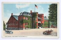 Postcard Middletown NY State Armory West Front Cars Street View New York 1910's