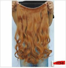 "MEDIUM HONEY BLONDE #27S HALO STYLE HAIR EXTENSIONS 20"" PRINCESS TRESSES"