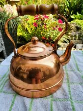 Vintage Copper Goose Neck Teapot Kettle Tagus Made in Portugal