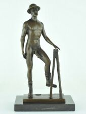 Statue Sculpture Athlete Nu Sexy Style Art Deco Bronze massif