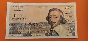 billet de 10 nouveaux francs richelieu 1960