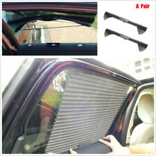 2x Nylon Mesh Retractable Car Side Window Curtain Sun Shield Blind UV Protection
