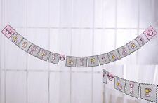 Minnie Mouse Banner Bunting Happy Birthday Party Hanging Flag Decoration