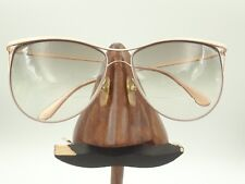 1be2b7a38934 Vintage Lacoste 837 Pink White Gold Metal Round Brow Sunglasses Frames  France