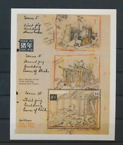LO03873 St Vincent year of the pig disney good sheet MNH