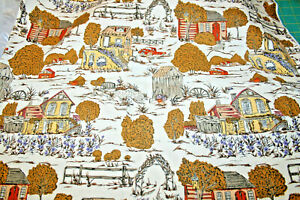 HOME IN THE COUNTRY ON TAN FROM BOUNDLESS FABRICS - 100% COTTON FABRIC
