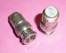 1 x enchufe HF BNC Dummy Load attenuator 75 Ohm