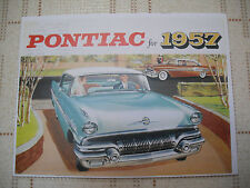 1957 CANADIAN PONTIAC SALES BROCHURE, DELUXE CANADIAN VERSION, NEW, unreserved!!