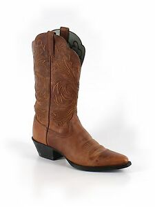 Women Ariat Heritage J Toe Cowboy Brown Leather Roper Boots Size 6.5 B 36.5