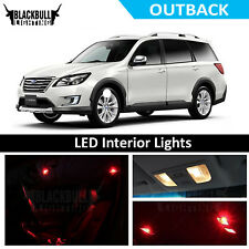 Red  LED Interior Light Package Bulb Accessories Kit for 2015-2018 Outback 12PC
