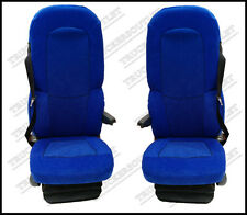 SCANIA 4 VELOUR SEAT COVERS IN BLUE[TRUCK PARTS & ACCESSORIES]