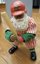 New Potpourri Press Fabric Mache Baseball African American Santa Claus 1995 Rare