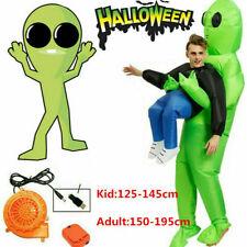 Green Alien Halloween Adult Child Cosplay Aufblasbares Monsterkostüm Lustig